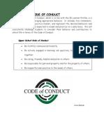 new school code of conduct