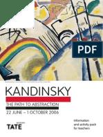 Kandinski Path to Abstraction