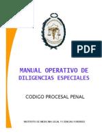 Manual de Diligencias Especiales Del Nuevo Código Procesal Penal.