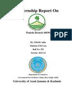Internship Report The Bank of AJ&K