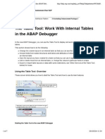 Working with SAP Internal Tables