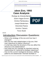Audubon Zoo, 1993  Case Analysis