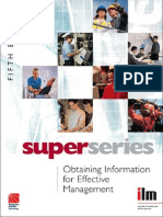 Obtaining Information for Effective Management