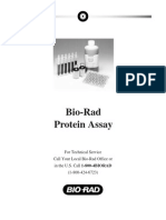 Instruction Manual, Bio-Rad Protein Assay, Rev C