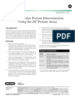 Total Cellular Protein Determination Using the DC Protein Assay