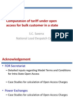 Computation of Tariff Bulk Consumer Open Access 15-Jun-2011