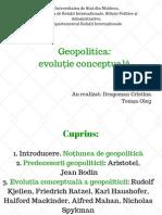 Geopolitica-evoluție conceptuală