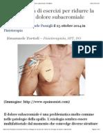 Una Strategia Di Esercizi Per Ridurre La Chirurgia Nel Dolore Subacromiale