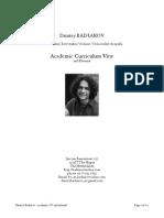 CV Dmitry Badiarov, November 2014