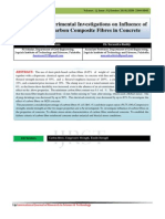 Experimental Investigations on Influence of Carbon Composite Fibres in Concrete