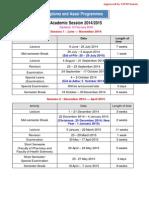 Academic Sessions 2014-2015 uitm