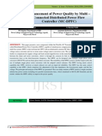 Enhancement of Power Quality by Multi – Connected Distributed Power Flow Controller (MC-DPFC)