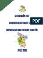Situación de Biocomubstible en La Region San Martin