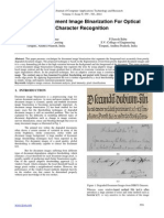 A Novel Document Image Binarization For Optical Character Recognition