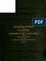 (1905) Regulations Governing the Uniform of the United States Navy