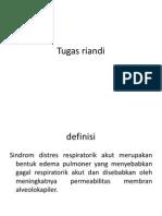 Definisi, Etiologi, Epidemiologi ARDS