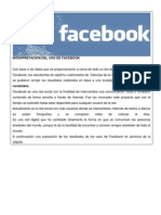 interpretacion del uso de facebook 1