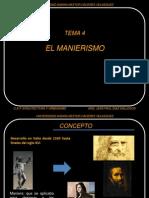 Tema 4 El Manierismo