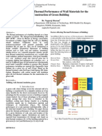 Determination of Thermal Performance of Wall Materials for the Construction of Green Building