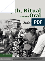 Jack Goody Myth, Ritual and the Oral 2010