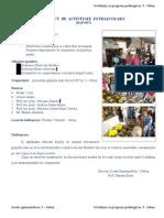 Proiect de Activitate Extrascolara-Vizita Florarie