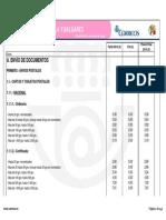 Tarifas Correos 2014 Peninsula y Baleares 0