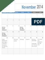 November Kids Club 2014-15