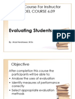 Evaluating Students