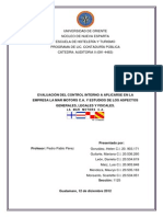 Control Interno La Mar Motors, c