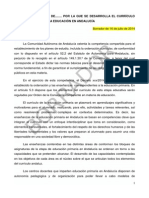 BorradorOrdenEducacionPrimaria2014