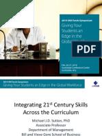 Sutton 2014 SYMPOSIUM Integrating 21st Century Skills Across the Higher Education Curriculum