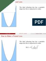 Calcul Lentila Fresnel
