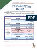 Structura an Scolar Calendar 2014 2015