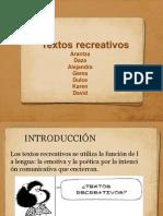 Textos recreativos Presentacion