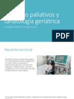 Cuidados Paliativos y Tanatología Geriátrica