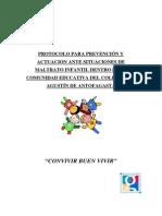 Extracto Protocolo de Maltrato Página Web 2013