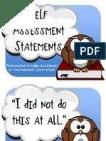 Self Assess Statements 14 15