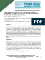 INSPEÇÃO PREDIAL E ANÁLISE DE CUSTOS DE RECUPERAÇÃO ESTRUTURAL DE EDIFICAÇÃO LOCALIZADA EM ÁREA TOMBADA PATRIMÔNIO HISTÓRICO EM BRASÍLIA