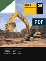 330CL Series Spec Sheet Excavator