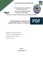 Procedimientos Operacional Maquinaria Pesada