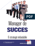 Manager de Succes - 6 Strategii Imbatabile