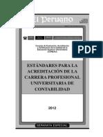 Estandares Para La Acreditacion de La Carrera Profesional Universitaria de Contabilidad
