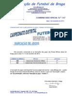 CO N.º 147 FUTEBOL 7_MARCAÇÃO DE JOGOS PARA 15 e 16 NOVEMBRO 2014