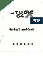 Studio 64 x Manual