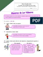 Ficha Informativa - Leitura de Números - Maneiras de Ler Números