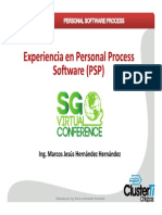 Experiencia en Personal Software Process