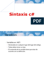 Sintaxis c#