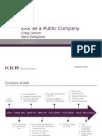 KKR as a Public Company