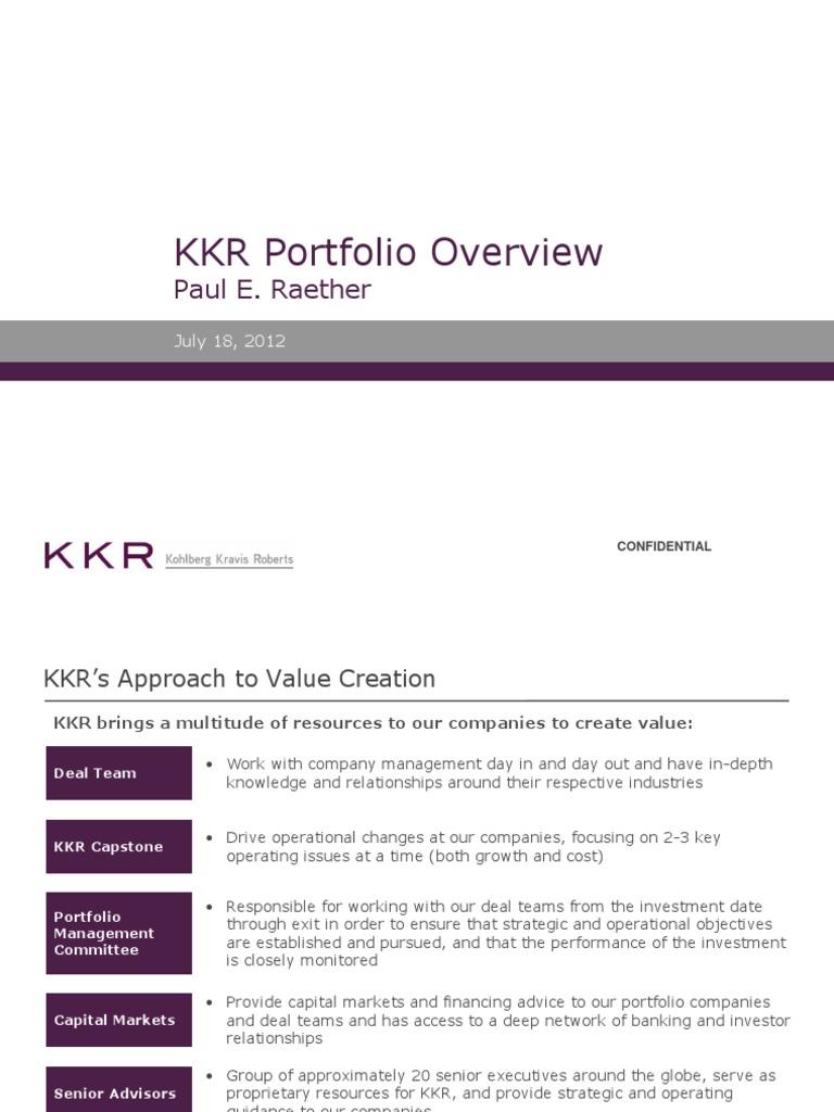 kkr capstone case study