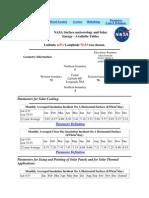 NASA Surface Meteorology and Solar Energy LA VIRGINIA